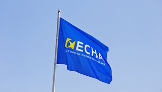 Agency's flag on the office building roof / © European Chemicals Agency 2013